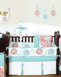 fl c and turquoise baby girl crib bedding set sets for boy girls designs neutral crib bedding