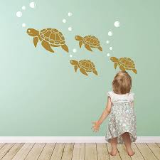 Sea Turtle Bathroom Accessories Sea Turtle Wall Sticker Decals Vinyls Nursery Wall Stickers And