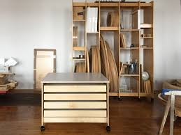 Large drawers for storing art flat and tall Art Storage Rack System for  storing paintings,