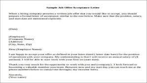 Offer Acceptance Email Sample 14 Job Acceptance Letters