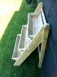 wooden plant shelf outdoor stands stand 3 tier trough garden strawberry herb step w pot holder wood indoor tiered x