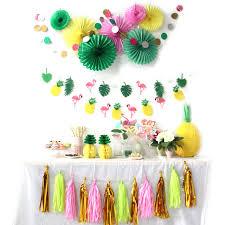 Hot Sale A Set Flamingos Theme Hawaiian Party Decorations Summer Party Decor  Birthday/Wedding/
