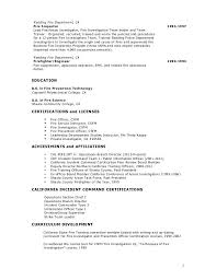 fire department resume 12939