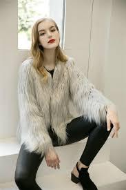 pink women s faux fur coat autumn winter luxury furry coat gy warm white lady fake fur