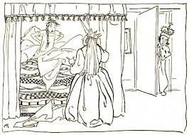 princess and the pea coloring page. princess and the pea by rackham coloring page