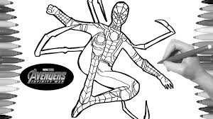 Avengers Infinity War Coloring Pages Iron Spider Get Coloring Page