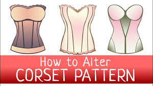 Corset Pattern Gorgeous How To Alter A CORSET PATTERN FREE PATTERN DOWNLOAD How To Change