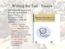 preparing for the social studies provincial exam ppt video  writing the test essays