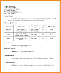 Resume Format Job Interview Resume Format For Freshers