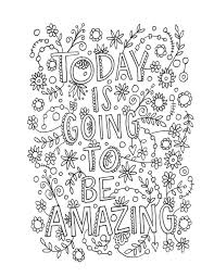 Coloring Pages For Adults Printable Quotes Color Bros