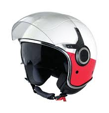 Vespa Vj Helmet Red And White