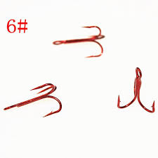 KKWEZVA 6# 20pcs <b>Fishing Hook Red</b> steel alloy oxidation Carbon ...