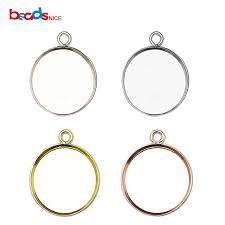 2018 beadsn925 round sterling silver pendant base whole bezel pendant settings blank for gemstone trendy diy jewelry id27622 from kuanbao