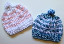Easy Knit Hat Pattern Straight Needles Classy Knitting Newborn Hats For Hospitals The Make Your Own Zone