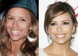 eva longoria before and after makeup look