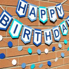 custom happy birthday banner custom blue and green happy birthday banner birthday banner
