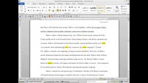 Writing An Essay In Mla Format How To Put A Written Essay Into Mla Format Youtube