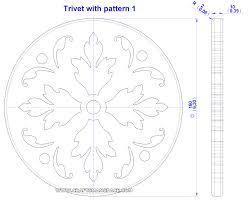 Free Scroll Saw Patterns Pdf Simple Trivet With Pattern Plan
