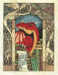 book plate frisby dragon bookplate by daniel mitsui