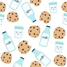 cookies and milk cute. Plain Cute Milk And Cookies Baby Fabric Cute Food Nursery Design White By  Charlottewinter On Spoonflower  Inside Cookies And Milk Cute