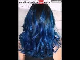 Subtle Blue Highlights Blue Highlights For Black Hair Youtube
