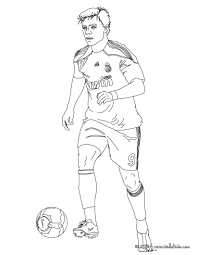 Small Picture Xabi playing soccer coloring pages Hellokidscom