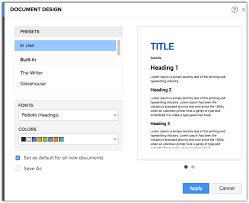 How To Customize Document Design