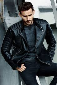 best men s black biker jackets