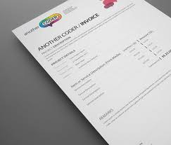 Modern Invoice Think Your Invoice Is Boring Here Are The Top 25 Beautiful Designer