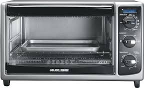 black and decker 6 slice convection oven toaster 8 digital extra blackdecker countertop silver