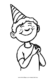 Small Picture Birthday Boy Colouring Page