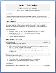 Resume Template Sample Resume Word Format Download Free Career