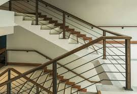 Wood and Metal Railing Stairs