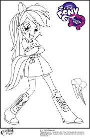 Small Picture My Little Pony Pinkie Pie Coloring Pages Rainbow Dash Coloring
