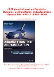 Aircraft Design Pdf Free Download Pdf Aircraft Control And Simulation Dynamics Controls