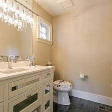 mirrored washstand with crystal linear chandelier view full size fabulous powder room