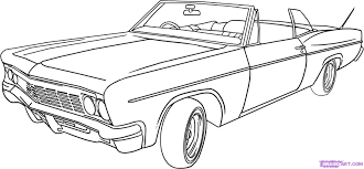 How to draw a lowrider car step 6