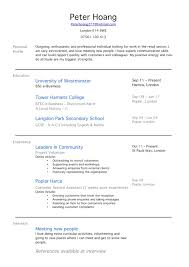 School Leaver Resume Examples Sample Resume No Work Experience Creative Concept Cv For 24 Year Old 18