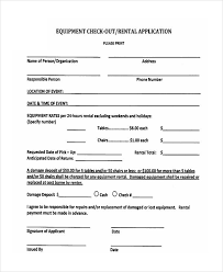 Renters Lease Application 7 Rental Application Examples Samples Examples