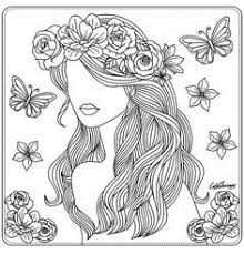 421 Best Coloring Beauties Images On Pinterest Coloring Pages