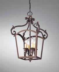 luminary 4 light interior lantern feiss lighting