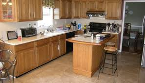 kitchens with pickled oak cabinets kitchen remodel before