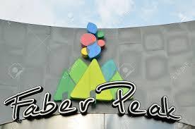 SINGAPUR, 29 De Abril De 2017: Signo De Faber Peak En Singapur. Es El único  Destino De Montaña Que Ofrece Conectividad A Sentosa A Través Del  Teleférico De Singapur. Fotos, Retratos, Imágenes