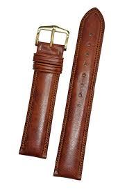 hirsch ascot 17mm golden brown leather strap