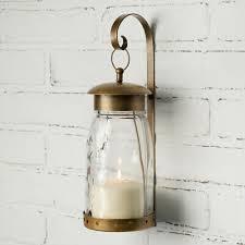 quart mason jar hanging wall sconce