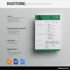 Portfolio For Resume Simple Resume CV Template And Cover Letter Portfolio Page Etsy