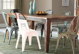 coaster keller rectangular dining table multi color