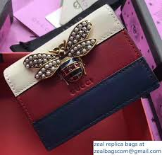 gucci queen margaret. gucci queen margaret metal pearls bee leather card case 476072 white/burgundy 2017 z
