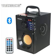 portable speakers. vaensong stereo wooden subwoofer bluetooth speaker fm radio portable speakers mp3 play super bass loudspeaker computer b