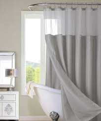 gray hotel sheer top shower curtain